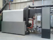 heating solution for space heating to factory areas, traditional radiator heating for offices and domestic hot water
